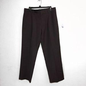 Banana Republic Straight Fit Brown Wool Pant 34 29